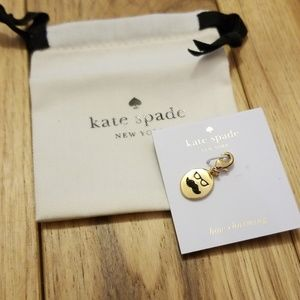 """Kate spade """"how charming"""" mustache"""